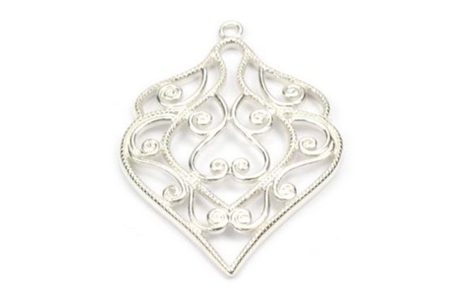 Sterling Silver Fancy Filigree Pendent