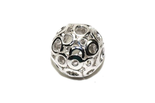Sterling Silver Filigree Round Bead