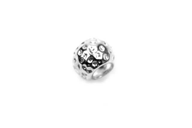 Sterling Silver textured Bead