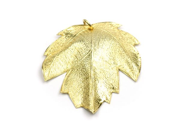Gold Vermeille Leaf Leaf With 1 Loop