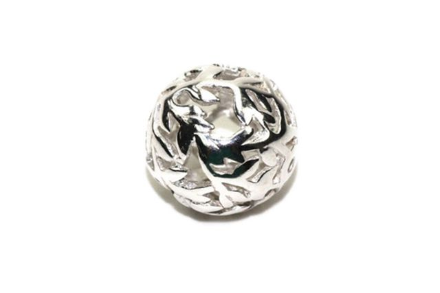 Sterling Silver Bead Branches with Leaves