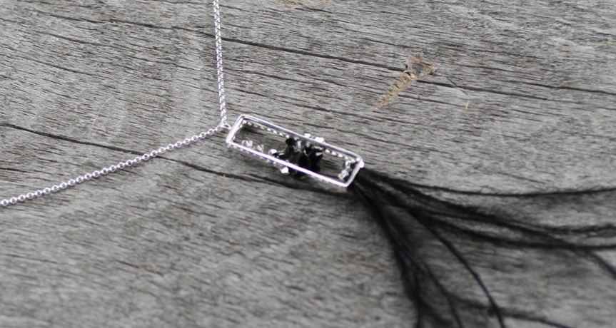 Feathers Eternity Design Frame Necklace