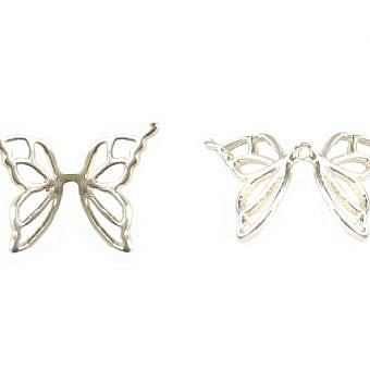 Butterfly Wing Bead Sterling Silver