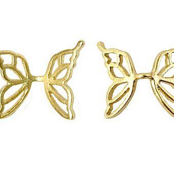 Butterfly Wing Bead Gold Vermeil