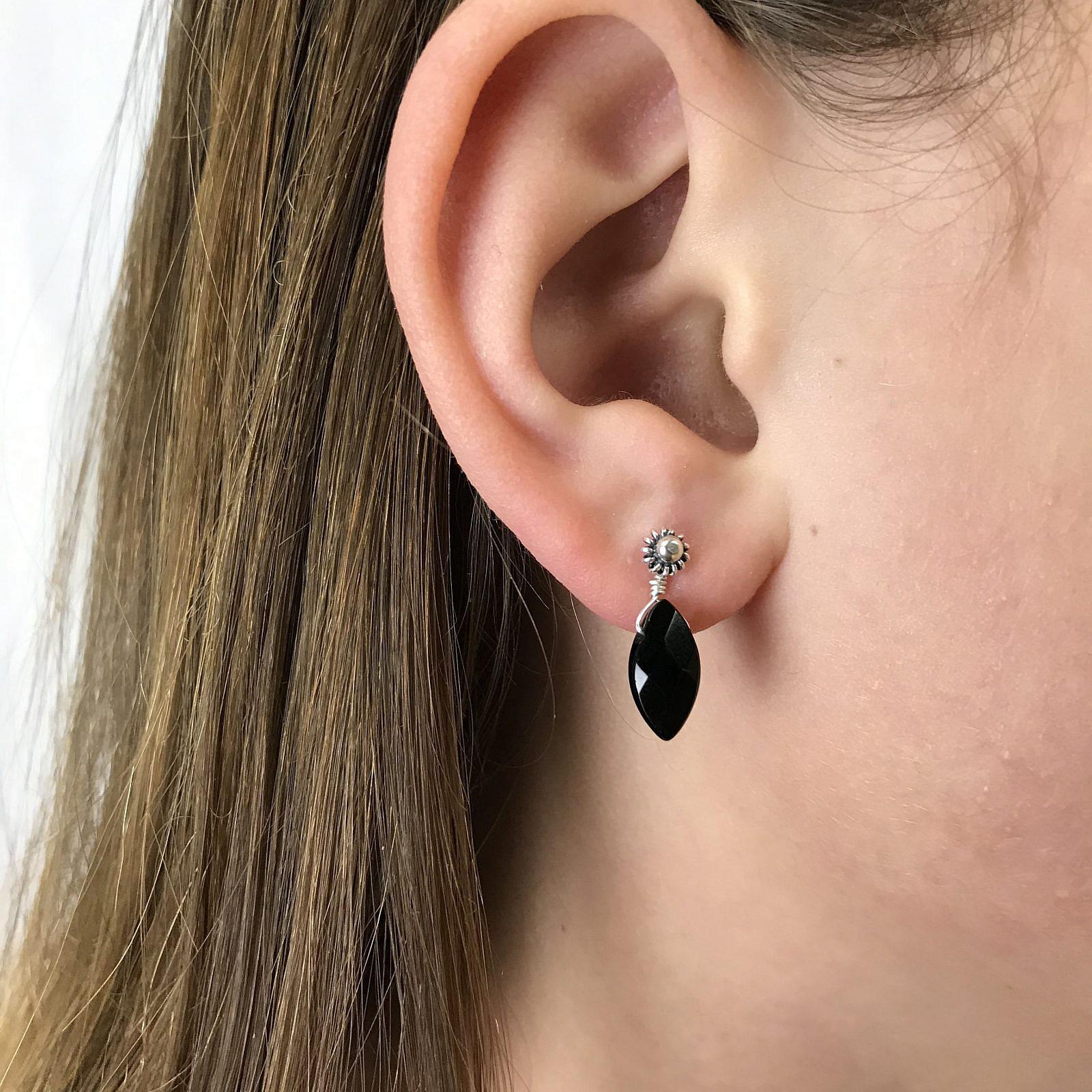 bronzite earrings gold post earrings Bronzite and gold wire wrapped stud earrings bronzite jewelry