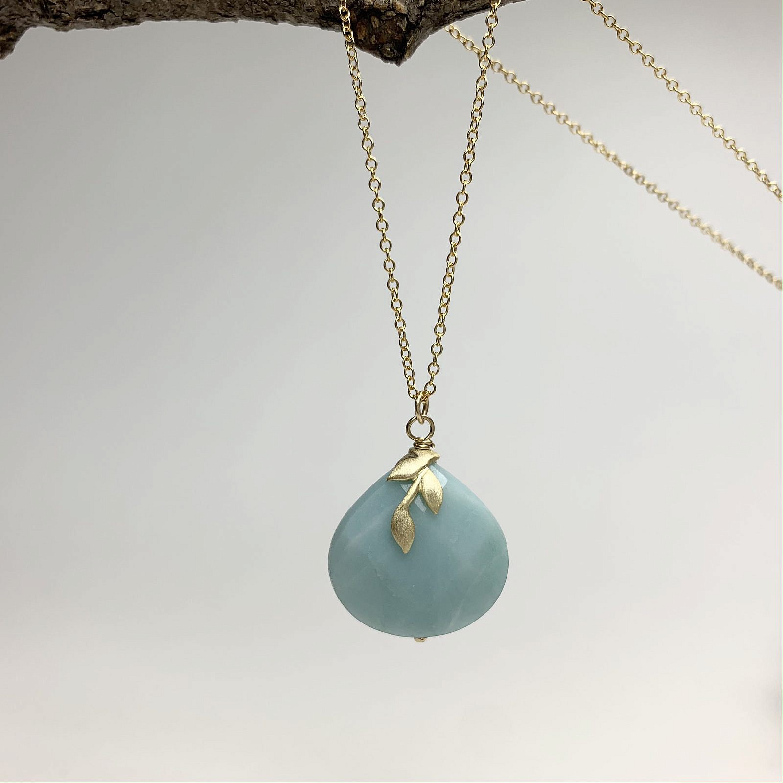 chalcedony rose precious gemstone quartz crystals teardrop pendant on gold filled necklace natural gemstone gold necklace