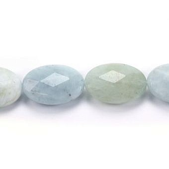 Aquamarine Oval Faceted Flat Oval SX0M4