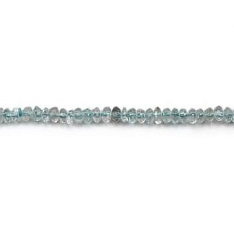 Aquamarine Rondell Faceted Rondell SZ0MZ