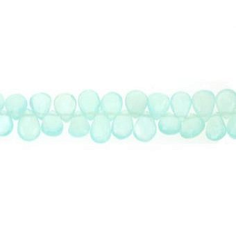 Chalcedony Ocean Pear Faceted Flat Pear SY028