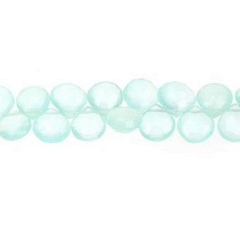 Chalcedony Ocean Pear Faceted Flat Pear SY033