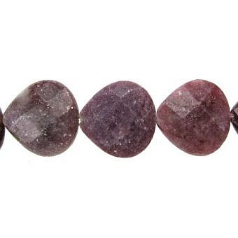 Lepidolite Pear Faceted Flat Pear SX06B