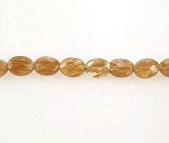 Quartz Synthetic Rutilated Faceted Faceted Flat Oval SQ0AA