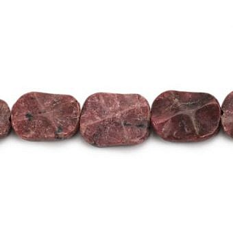 Rhodonite Other Waved Flat Oval SX08I
