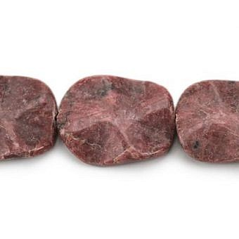 Rhodonite Other Waved Flat Oval SX08J
