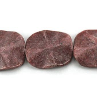 Rhodonite Other Waved Flat Oval SX08L