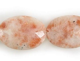 Sunstone Faceted Faceted Flat Oval SX0BI