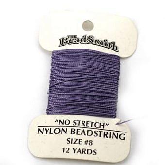 Light Amethyst Nylon Nylon No 8 No Stretch Cord CX10Z