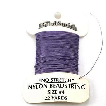Light Amethyst Nylon No 4 No Stretch Cord CX11A