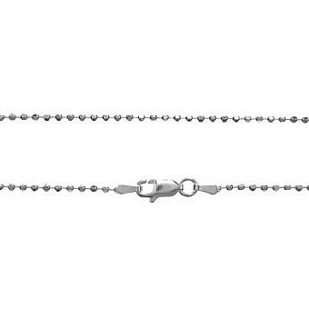 Sterling Silver Finished 16 in Faceted Ball Chain CF09S