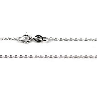 Sterling Silver Finished 16 in Cable Oval CF0LS