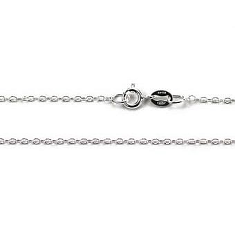 Sterling Silver Finished 18 in Cable Oval CF3HS