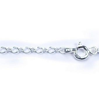Sterling Silver Finished 18 in Cable Twisted Oval CF2KS