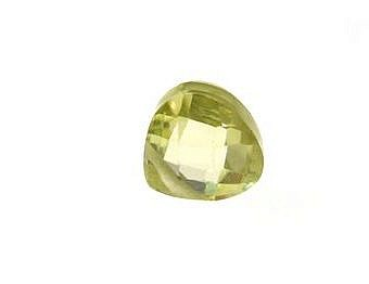 Cubic Zirconia Lime Yellow Faceted Faceted Flat Pear YZ058