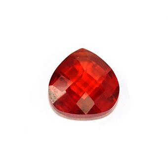 Cubic Zirconia Red Faceted Faceted Flat Pear YZ0IW