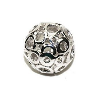 Sterling Silver Bead Round Bubbles FDF2S