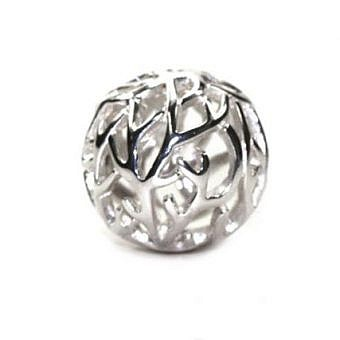 Sterling Silver Bead Round Sprig FDF0S