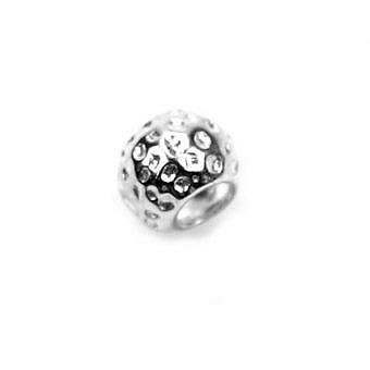 Sterling Silver Bead Bead Dotted FDEYS