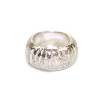 Sterling Silver Bead Bead Striated FDEXS