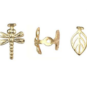Gold Vermeille Cail Cail Dragonfly Leaf FC1ZV