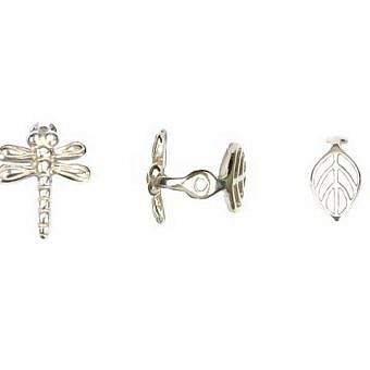 Sterling Silver Cail Cail Dragonfly Leaf FC1ZS