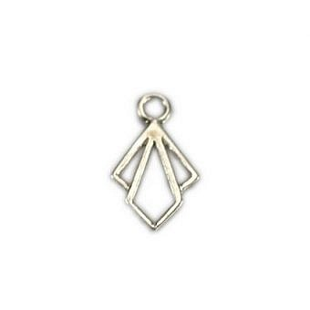 Sterling Silver Charm Deco Diamond FH81S