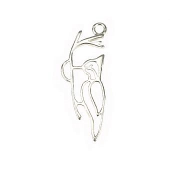 Sterling Silver Charm Woodpecker FH8HS