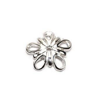 Sterling Silver Charm Flower 5 Petals FC1PS