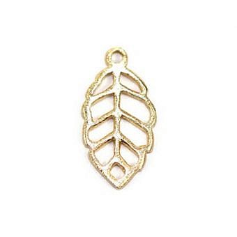 Gold Vermeille Charm Leaf FH6UV