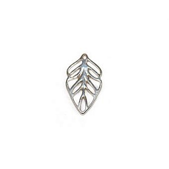 Sterling Silver Charm Leaf Small FH78S