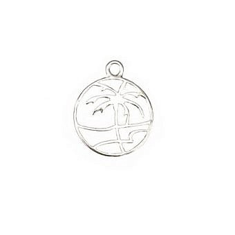Sterling Silver Charm Paradise Palm FH8CS