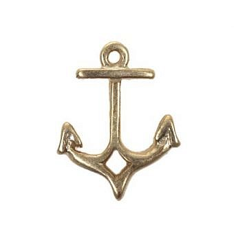 Gold Vermeille Charm Anchor FH7NV