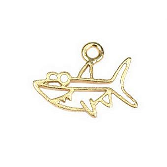 Gold Vermeille Charm Bruce the Shark FH87V