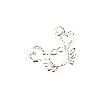 Sterling Silver Charm Mr. Crab FH89S