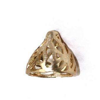 Gold Vermeille Cone Cone Brambly FX10V