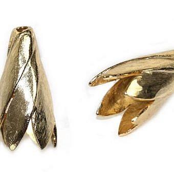 Gold Vermeille Cone Cone Spiral Petal FX04V
