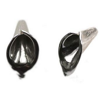 Sterling Silver Cone Cone Calla Lily Brushed FX26S