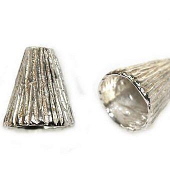 Sterling Silver Cone Cone Striated FX03S