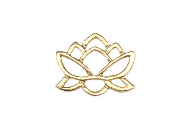 Gold Vermeille Connector Lotus Pond 8×10 mm