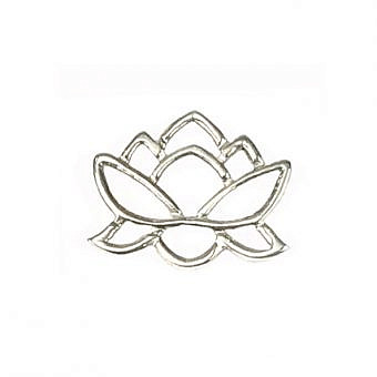 Sterling Silver Connector Connector Lotus Pond FO70S
