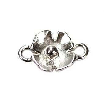 Sterling Silver Connector Connector Poppy FO6MS